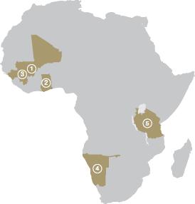 Map - Continental Africa region