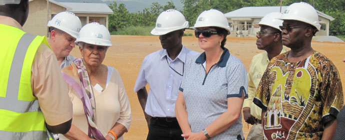 Members of our sustainability review panel visited the Dokyiwa village