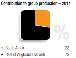 Contribution to group production – 2014 [chart]